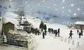 Pohled do lyžařského areálu Dubai Ski s opravdovým sněhem