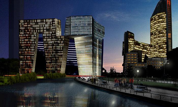 V Nizozemsku sestaví futuristické centrum odOMA