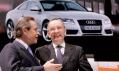 Závodnická legenda Jacky Ickx v rozhovoru s Walterem de Silvou při oficiální premiéře Audi A5.