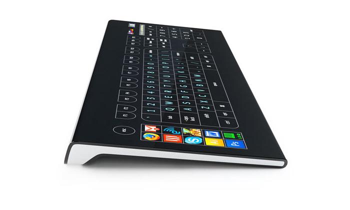 Dotyková LCD klávesnice Optimus bez kláves