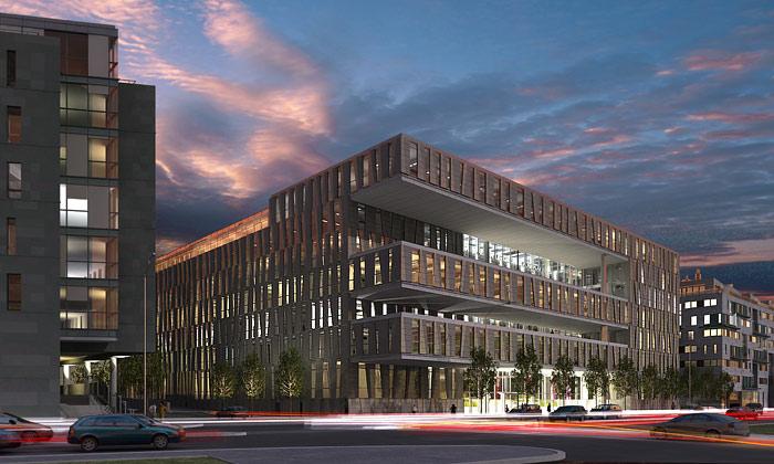 Budova budoucnosti jekancelářský Amazon Court
