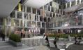 Interiér karlínské budovy Amazon Court na vizualizaci