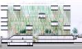 Pohledový řez budovou Amazon Court