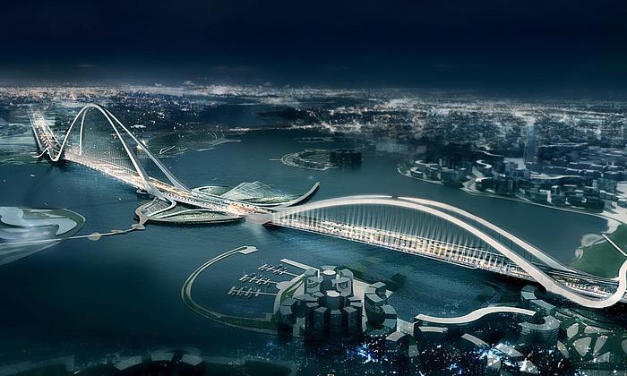 V Dubaji vyroste největší obloukový most nasvětě
