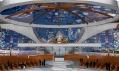 Vizualizace interiéru katedrály v Gabonu