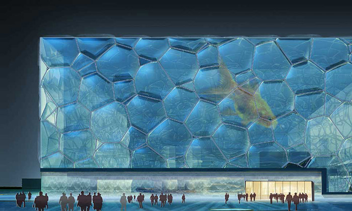 V Pekingu otevřen plavecký stadion Vodní kostka
