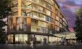 Pohled na luxusní byty při západu slunce