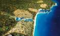 Vizualizace leteckého pohledu nanové vesničky letoviska