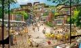Ekologické zelené vesničky ze dřeva místně vykácených lesů