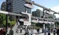 SkyTran jako ekologická budoucnost dopravy na vizualizaci