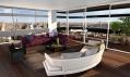 Interiér apartmánu s balkónem