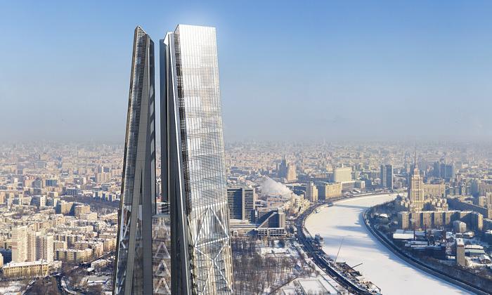 Přesně 600 metrů vysoká Ruská věž od Normana Fostera