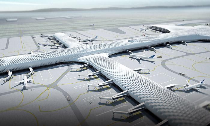 Síťované letiště vShenzhenu postaví Fuksas