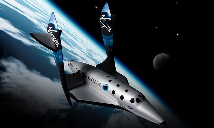Do vesmíru nakosmické lodi SpaceShipTwo