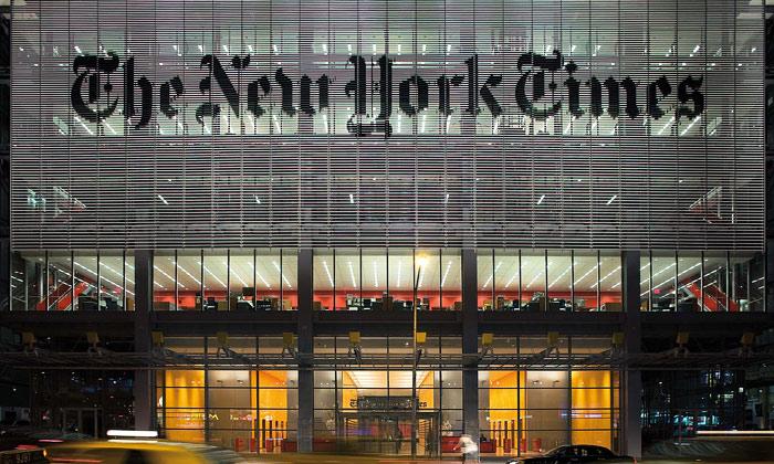 Nová transparentní budova The New York Times