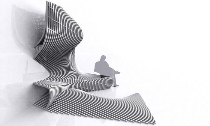 Zaha Hadid navrhla fluidní vyrůstající sochu