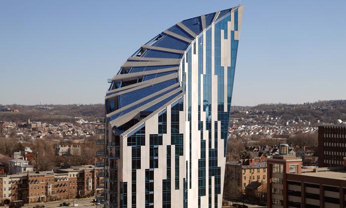 K nebi rostoucí bytový dům odstudia Libeskind