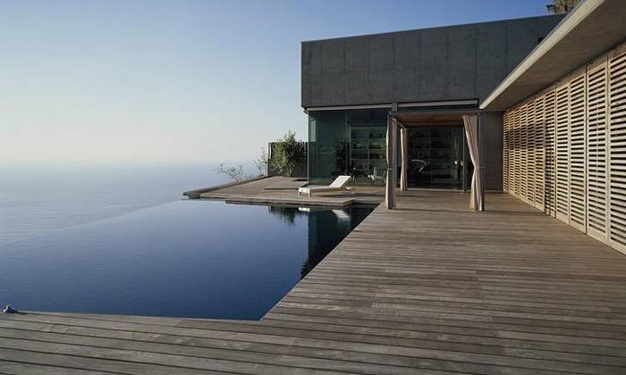 Dům naskaliskách umoře naostrově Tenerife