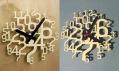 Moderní interiérové nástěnné hodiny Uhrzahl