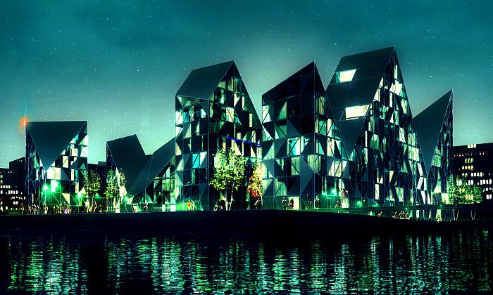 Na dánském pobřeží vyrostou byty vetvaru ledovce