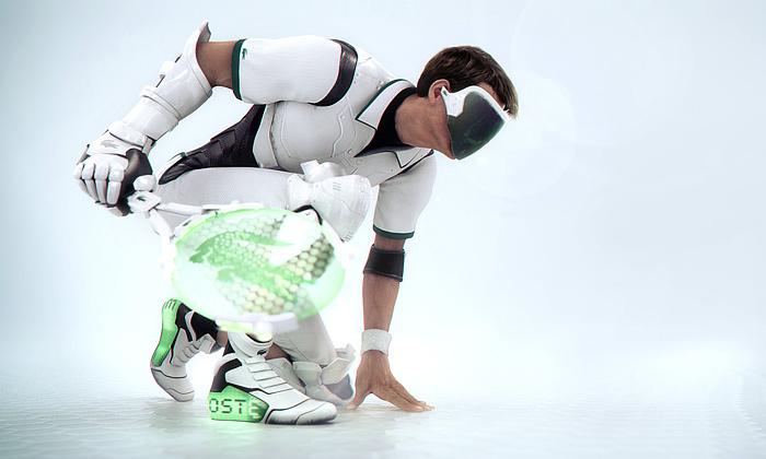 Ladná technologická vize hry tenisu vroce 2083