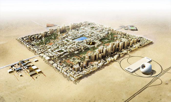 OMA chce postavit čtvercové město varabské poušti