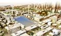 Bazén, rozmanitá architektura, zeleň a výškové budovy