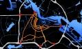 Mapa zlutých tras, kde má město vzniknout a napojení na komunikace