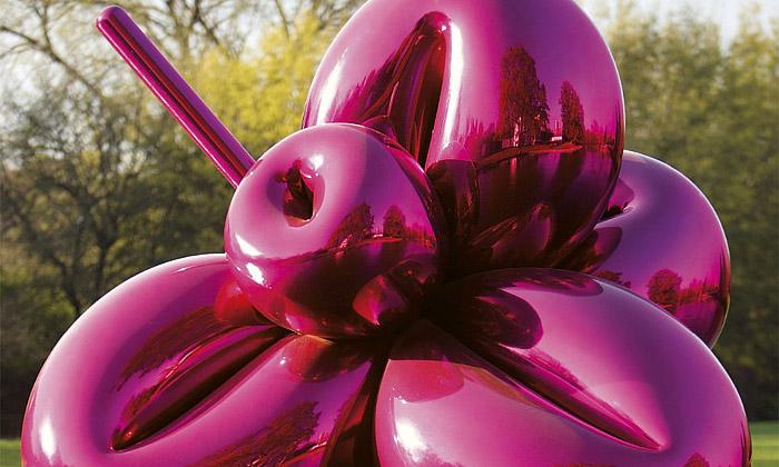 Ne lecjaká purpurová květina Jeffa Koonse
