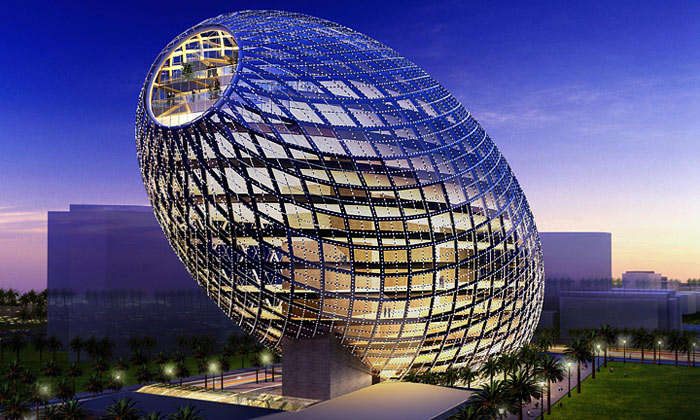 Bombaj postaví skleněné vejce jako kanceláře
