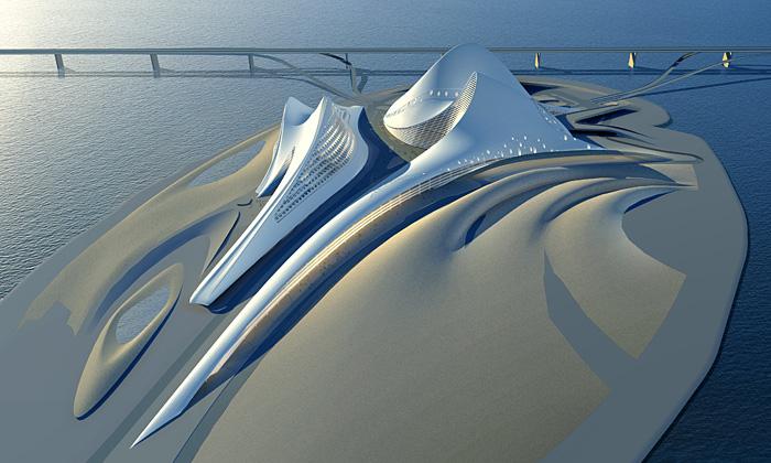 Zaha Hadid odhalila návrh dubajské ostrovní opery