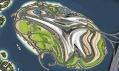 Satelitní pohled na nový operní ostrov v dubajském zálivu
