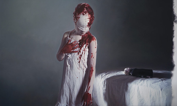 Gottfried Helnwein vystavuje své Angels Sleeping
