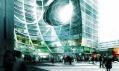 Fascinující pohled na multifunkční budovu s jejím viditelným proděravěním