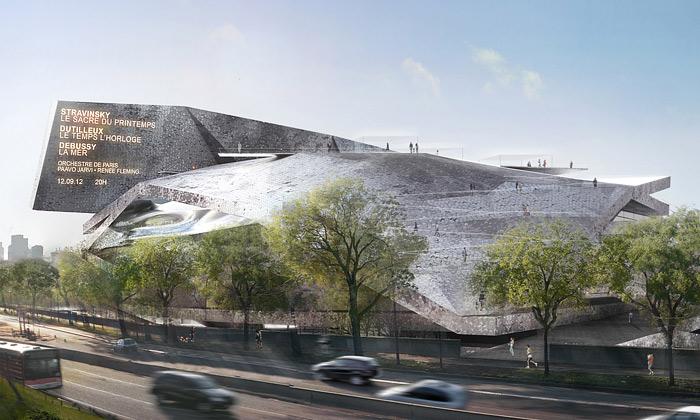 Paříž staví novou budovu filharmonie odNouvela