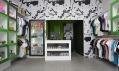 Interiér módního obchodu Basmatee v Praze