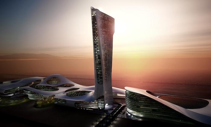 Emiráty postaví hlavní městskou bránu odSnøhetta