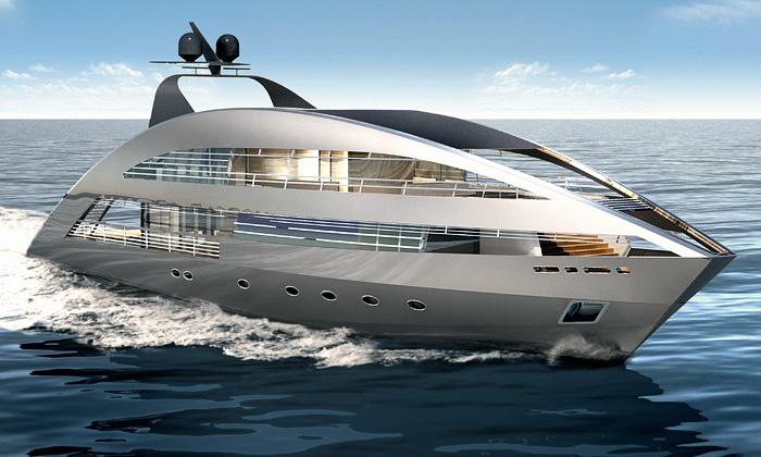 YachPlus představila jachtu podle Normana Fostera