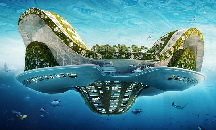 Plovoucí Lilypad řeší světovou potopu ve21.století