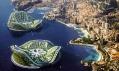 Plovoucí Lilypady na vizualizaci v sousedství pozemních měst