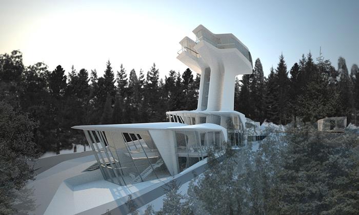 Barvikha staví kosmickou rezidenci odZahy Hadid