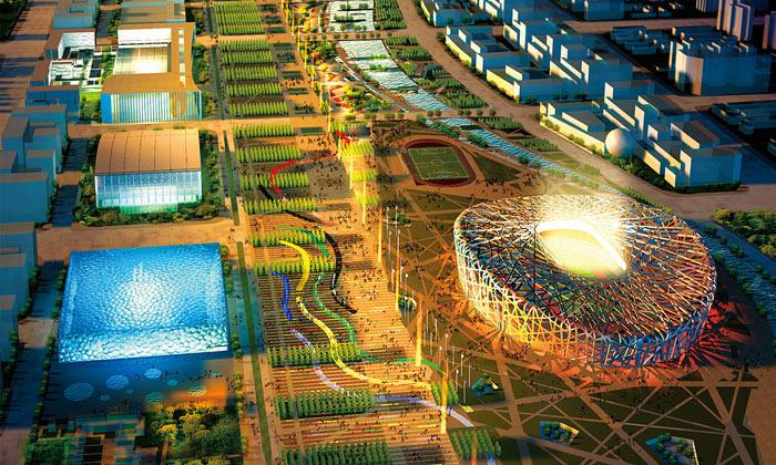 Čína sechlubí olympijskými stadiony aparkem