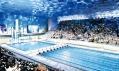 Interiér Vodní kostky se dvěma bazény pro 17 tisíc diváků