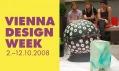 Logo Vienna Design Week 2008 a záběr z úvodního červnového aperitivu