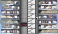 Vertikální řez typickým dynamickým mrakodrapem