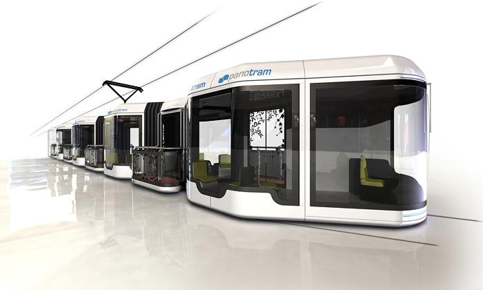 Panoramatická tramvaj Panotram isbalkónky