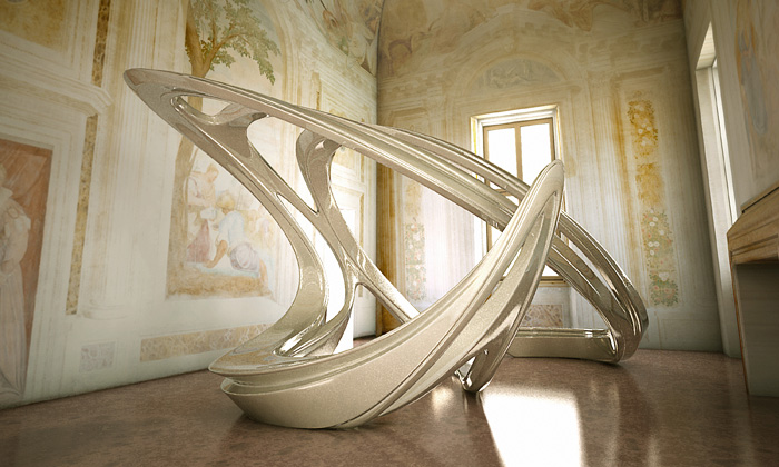 Aura harmonických tvarů vexperimentu Zahy Hadid