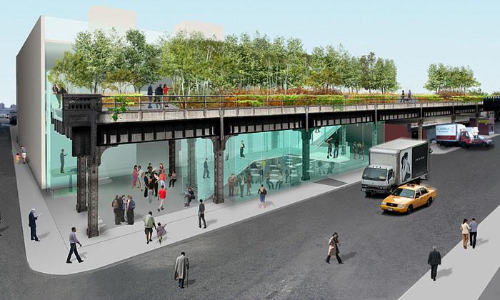 New York dělá znadzemky park apromenádu
