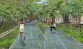 Stezky na vysutých kovových chodnících na High Line