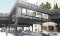 Zrekonstruovaný průhled High Line do ulic města